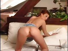 masturbation, red head, small tits, pornhub.com, euro, heels, stripping, masturbating, masturbate, wet, fingering, natural-tits, vibrator, shaved, solo