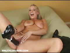 Horny xana fills her pussy with a thick black dildo
