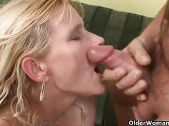 Shoot your cum load into mom's mouth
