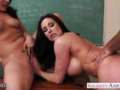 Busty teachers gracie glam, kendra lust sharing student