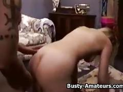 Busty sunny getting fucked on behind