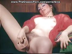 Classic clips of babes masturbating and cumshot
