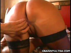 Granny karen banged missionary and spooned