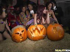 Halloween turns into an orgy