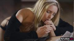 Russian jessi gold blows and pussy licked before shes banged