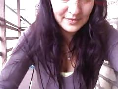 brunette, public, webcam, outside, cam-girl, cam-show, live-cam, busty, big-boobs, shaved-pussy, teasing, outdoor, public-cam-show, public-webcam