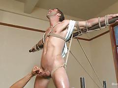 Justin beal's dick hangs in air