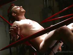 sadism, bdsm, torture, dungeon, tied up, gay anal, gay, bondage device, 30 minutes of torment, kink men, sebastian keys, dylan strokes