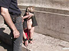 Girl fucked in public place