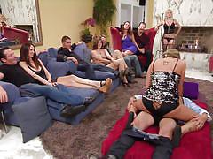 lesbian, blonde, babe, orgy, swingers, playboy, pussy licking, whipped cream, big breasts, swing, playboy tv