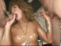 Rough aisan threesome along big tits model rumika