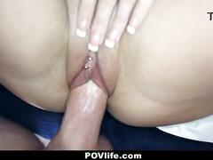 cumshot, hardcore, pornstar, brunette, doggystyle, shaved, bed, bigcock, pov, cowgirl, close-up, bedroom, sextape, perky-tits, povlife, point-of-view, teamskeet, jada-stevens