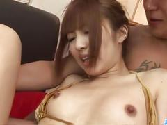 Kotone aisaki gets shared by two guys in threeosme