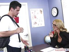 Busty sex teacher sarah jessie gets fucked