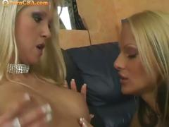 Hot blonde lesbian babes licks on each other cunts