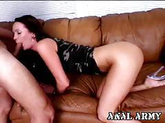 Winsome brunette bianca pureheart ass fucking