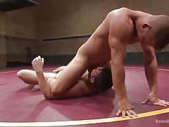 anal, tattooed, muscled, gay handjob, big penis, gay, gay wrestling, wrestling arena, naked kombat, kink men, brendan patrick, rylan knox