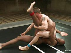 Interracial wrestling at its best