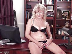 granny, saggy tits, stripping, office, masturbating, hairy pussy, blonde mature, red nails, on the table, usa mature, mature nl, candis x