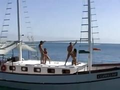 Euro couples wife swapping on a yatch