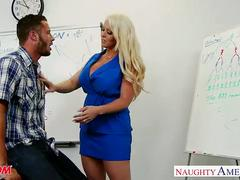 Blonde mom alura jenson fuck a big shaft