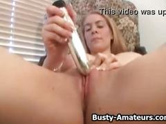 Busty kalis toy her pussy