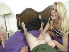 Cock sucking demonstration