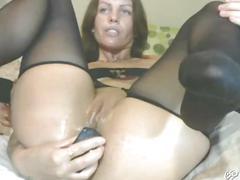 Pretty pregnant funcking on webcam