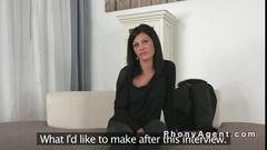Great ass amateur bangs fake agent on casting