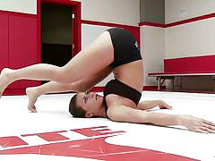 blonde, flexible, babes, brunette, lesbian wrestling, training, tatami, team battle, ultimate surrender, kink, raven rockette, serena blair, luna light