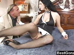 Brunette maid stracy stone gets pounded very hard