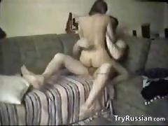 Russian couple caught fucking by a spy camera