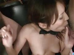 Gangbang on rino asuka gets her all cum sticky.