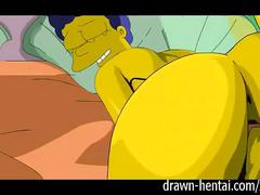 cumshot, facial, party, hentai, cartoon, behind, simpson, from, parody, drawn, simpsons, marge