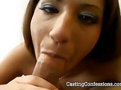 Cutie suck that boner with pleasure in pov