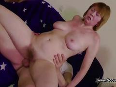 German hairy mom get anal fucked on work