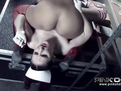 Pinko hd strap-on lesbian nurses fucking