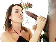Franceska takes a big black one
