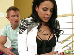 Sexy babe luna star gets big tits and pussy fucked