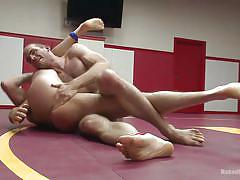 tattoo, ass fingering, fingering, muscled, fighting, gay blowjob, gay, gay wrestling, wrestling arena, naked kombat, kink men, john smith, abel archer