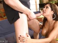 Francesca le enjoys meaty cock