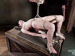 tattoo, bdsm, babe, torture, domination, vibrator, tied up, rope bondage, candle wax, sadistic rope, kink, veruca james