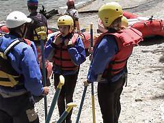 Girls try rafting @ season 1 ep. 4