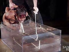 Ebony babe does the ice bucket challenge