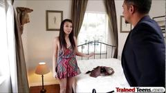 Asian slut miko dai tied up and screwed by pervert dude