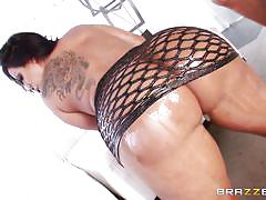 Huge ass getting oiled
