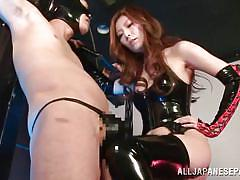 milf, femdom, hairy, big tits, asian, mask, fetish, hand job, pussy licking, cosplay, j cos play, all japanese pass, yuna shiina