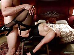 milf, bdsm, high heels, fetish, sex slave, cock sucking, big breasts, sexy lingerie, tied up, sex and submission, kink, lea lexis, bill bailey
