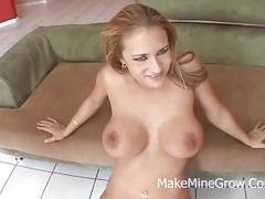 Hot blonde fucked on a gangbang
