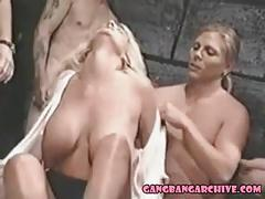 Gangbang archive vintage group sex party with six guys